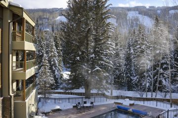 View in winter from the lodge