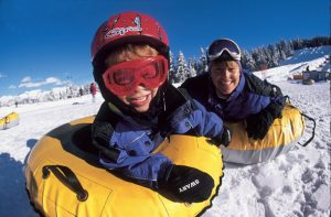 Laugh your head off at our tubing lanes!