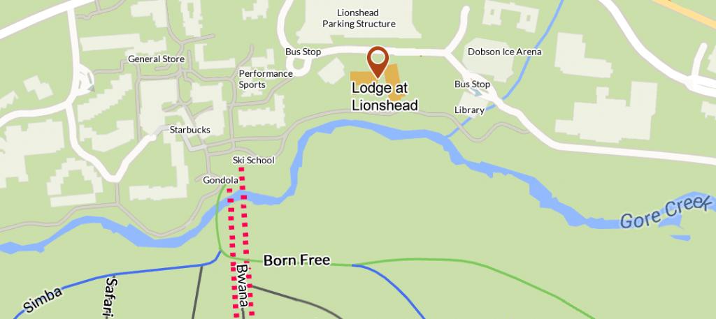 Lodge at Lionshead Map