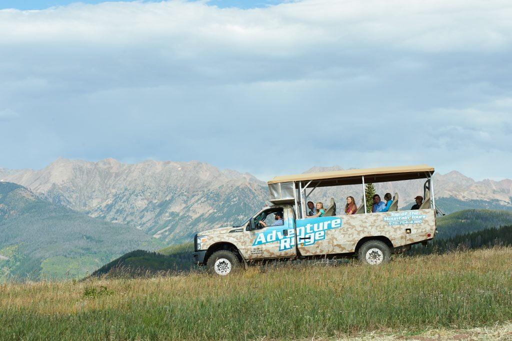 Jeep Tours at Adventure Ridge on Vail Mountain, Colorado.